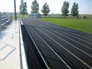 New asphalt track.