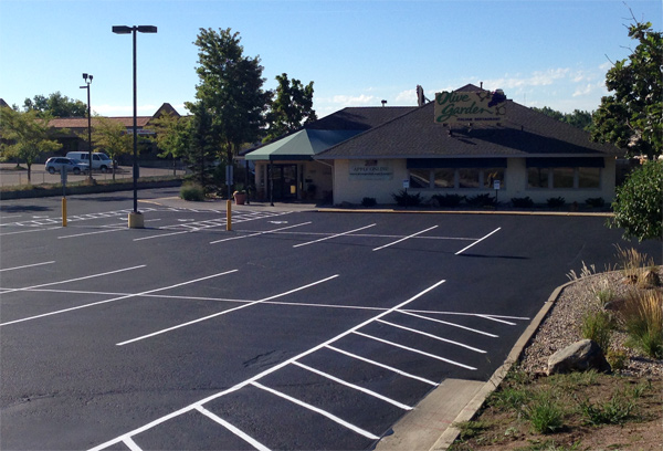 Olive Garden parking lot after picture.