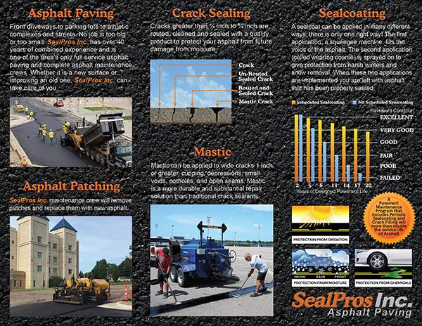 Seal Pros Paving, experts at fixing your asphalt.