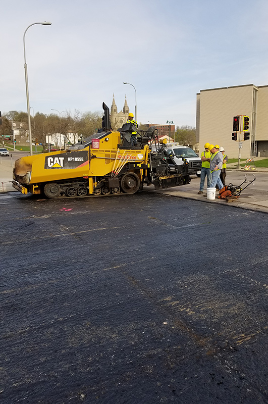 Sioux Falls City street being repaired